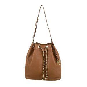 Michael Kors MK Camel Bucket Bag Gold Accent Chain